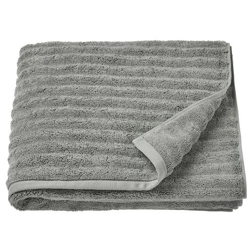 FLODALEN منشفة حمّام رمادي 140 سم 70 سم 0.98 م² 700 g/m²
