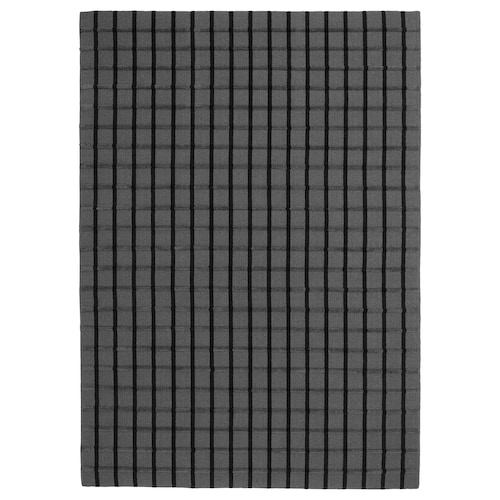 FOULUM سجاد، غزل مسطح صناعة يدوية رمادي/أسود 240 سم 170 سم 7 مم 4.08 م² 2225 g/m²