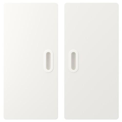 FRITIDS باب أبيض 60.0 سم 64.0 سم 2 قطعة