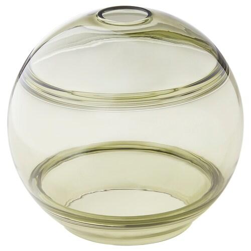 FUNDSHULT غطاء مصباح معلق أخضر زجاج/مسطّر 21 سم 23 سم