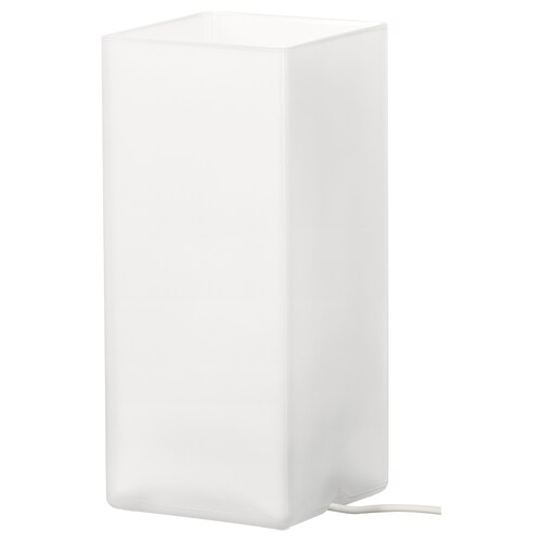 GRÖNÖ مصباح طاولة زجاج محبب أبيض 6 واط 10 سم 22 سم 1.5 م