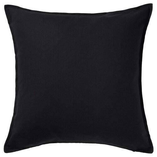GURLI غطاء وسادة أسود 65 سم 65 سم