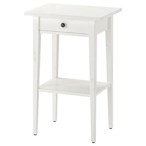 HEMNES طاولة سرير جانبية صباغ أبيض 46 سم 35 سم 70 سم 23 سم