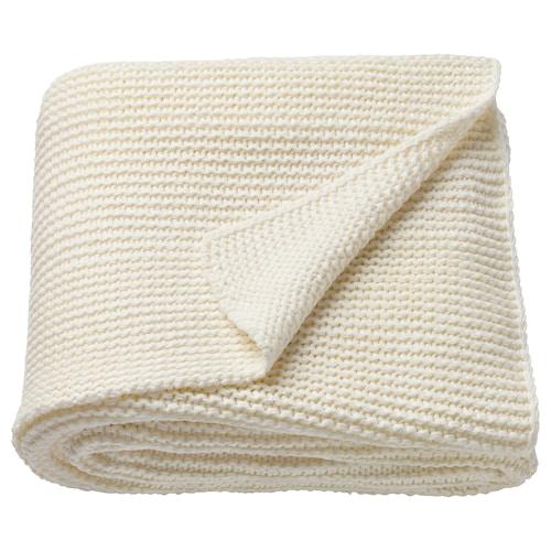 INGABRITTA غطاء أبيض-عاجي 170 سم 130 سم 1080 غم
