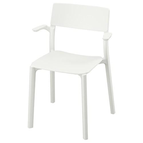 JANINGE كرسي مع مساند للذراعين أبيض 110 كلغ 54 سم 46 سم 76 سم 40 سم 40 سم 44 سم