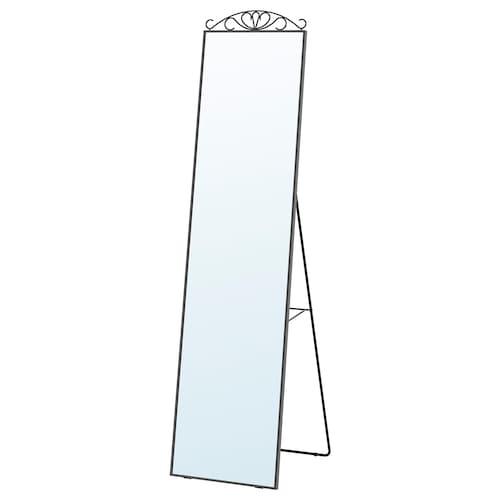 KARMSUND مرآة بحامل أسود 40 سم 167 سم 45 سم