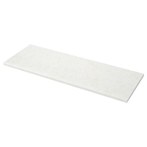 KASKER سطح عمل حسب الطلب أبيض شكل المرمر/كوارتز 2.0 سم 4.0 سم 100 سم 20 سم 300 سم 20.0 سم 135.0 سم 4.0 سم 1 م²