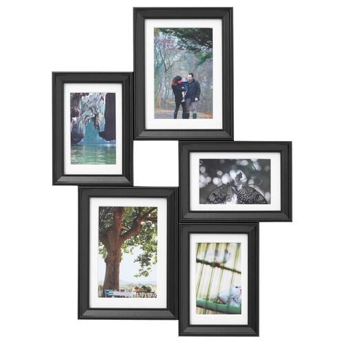 KNOPPÄNG كولاج لمجموعة 5 صور أسود 50 سم 37 سم