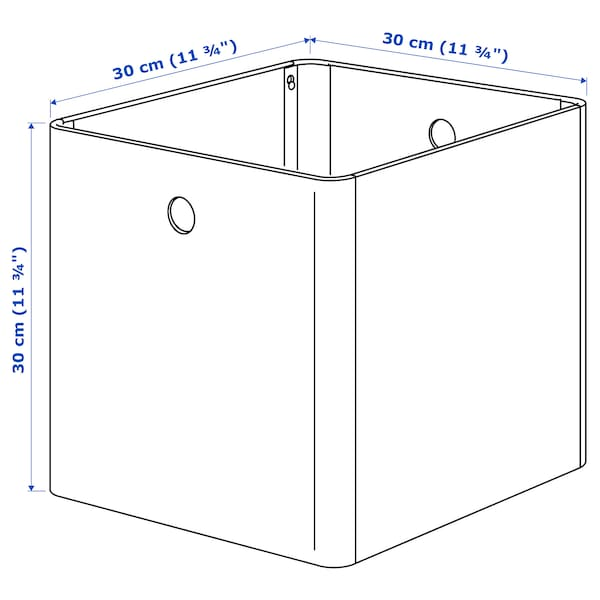 KUGGIS صندوق تخزين أبيض 30 سم 30 سم 30 سم