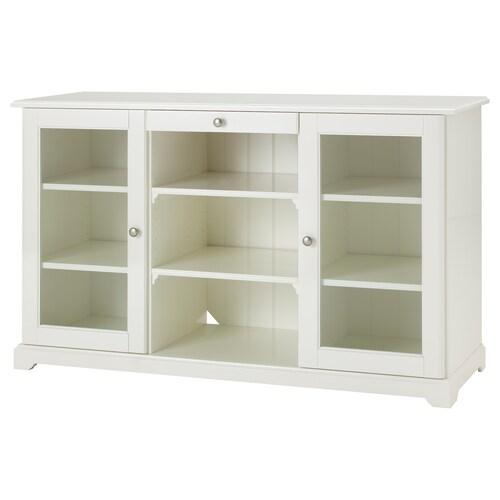 LIATORP خزانة جانبية أبيض 145 سم 48 سم 87 سم 75 كلغ