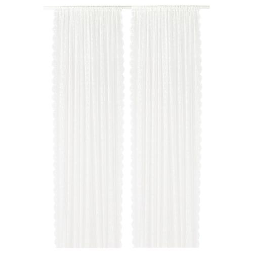 LILLYANA ستائر رقيقة، 1 زوج أبيض/زهرة 300 سم 145 سم 0.57 كلغ 4.35 م² 2 قطعة
