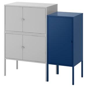 لون: رمادي/أزرق غامق.