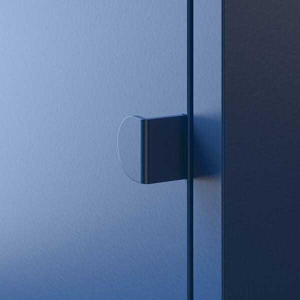 LIXHULT تشكيلة تخزين أزرق غامق رمادي/أبيض/زهري/أحمر 60 سم 82 سم 130 سم 35 سم 82 سم 21 سم 12 كلغ