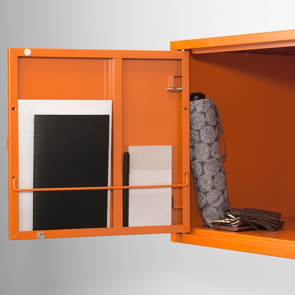 LIXHULT تشكيلة تخزين برتقالي/برتقالي 35 سم 35 سم 70 سم