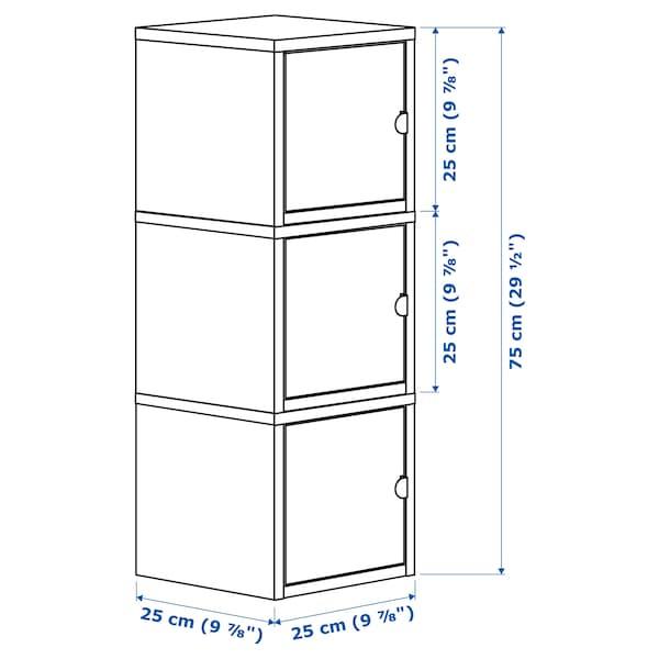 LIXHULT تشكيلة تخزين أبيض/زهري 25 سم 25 سم 75 سم