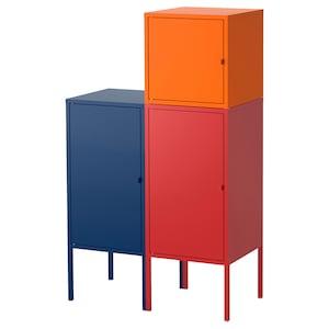 لون: أزرق غامق/أحمر/برتقالي.