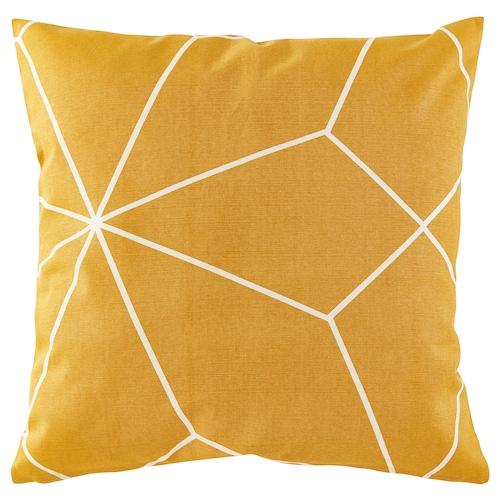 LJUV غطاء وسادة أصفر/مطبوع 50 سم 50 سم