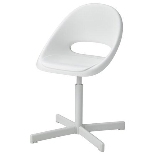 LOBERGET / SIBBEN كرسي مكتب أطفال أبيض 110 كلغ 56 سم 56 سم 75 سم 31 سم 32 سم 38 سم 49 سم