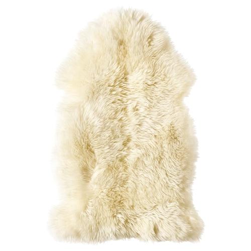 LUDDE جلد خروف أبيض-عاجي 85 سم 55 سم 0.60 م²