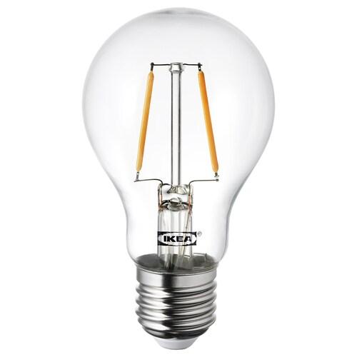 LUNNOM لمبة LED E27 100 lumen كروي زجاج شفاف 2200 كلفن 60 مم 1 واط