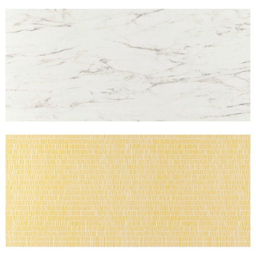 LYSEKIL لوح حائط ثنائي الجانب. مظهر الرخام أبيض/منقوش 119.6 سم 55 سم 0.2 سم
