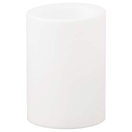 MOGNAD قالب شمع LED يعمل بالبطارية/أبيض 10 سم 7 سم