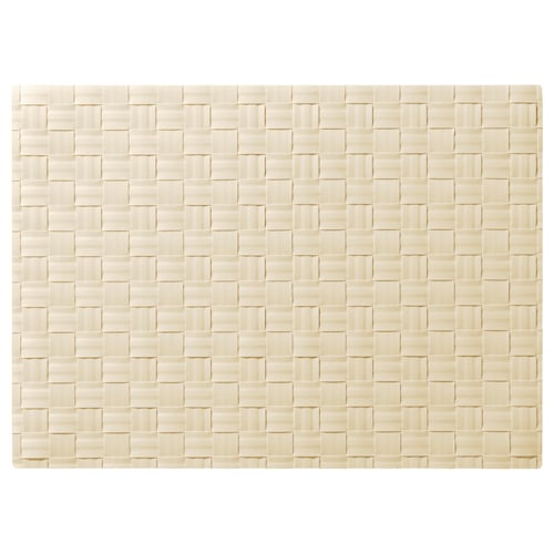 ORDENTLIG مفرش أطباق أبيض-عاجي 46 سم 33 سم