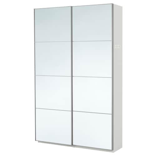 PAX دولاب ملابس أبيض/Auli زجاج مرايا 150.0 سم 44.0 سم 236.4 سم