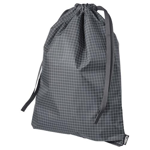 RENSARE حقيبة نقش كاروهات/أسود 30 سم 40 سم