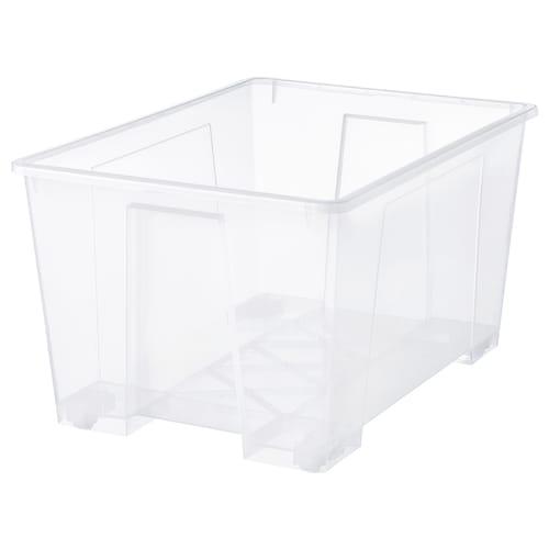 SAMLA صندوق شفاف 78 سم 56 سم 43 سم 130 ل