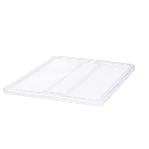 SAMLA غطاء لصندوق 55/130 ليتر شفاف 79 سم 57 سم