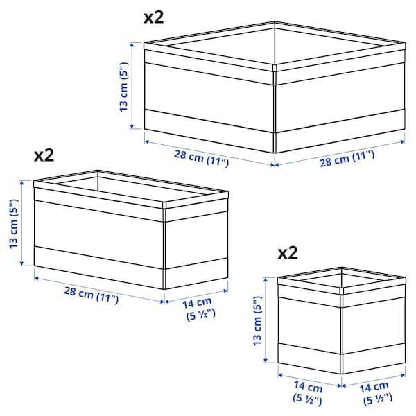 SKUBB صندوق، طقم من 6 رمادي غامق