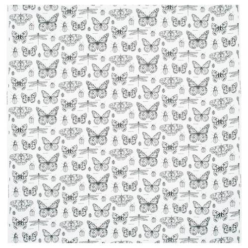 SOMMARMALVA قماش أبيض-عاجي/رمادي غامق 230 g/m² 150 سم 30 سم