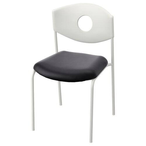 STOLJAN كرسي مؤتمرات أبيض/أسود 45 سم 51 سم 81 سم 44 سم 44 سم 46 سم 110 كلغ