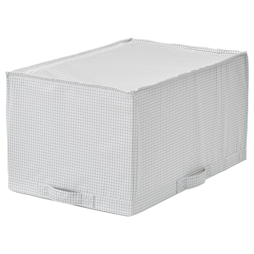 STUK صندوق تخزين أبيض/رمادي 34 سم 51 سم 28 سم