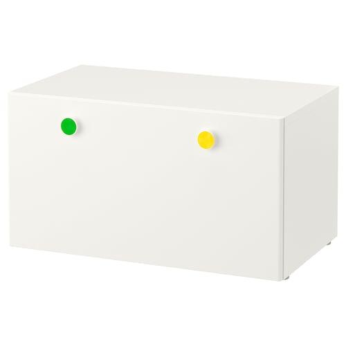 STUVA / FÖLJA مصطبة تخزين أبيض 90 سم 50 سم 50 سم