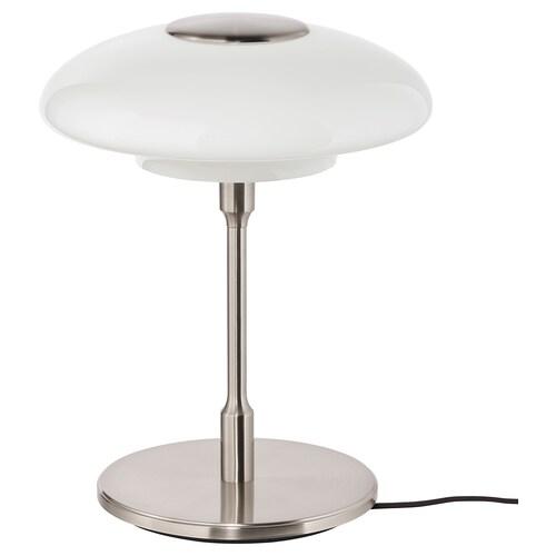 TÄLLBYN مصباح طاولة طلاء - نيكل/أبيض أوبال زجاج 32 سم 40 سم 24 سم 200 سم 8.6 واط