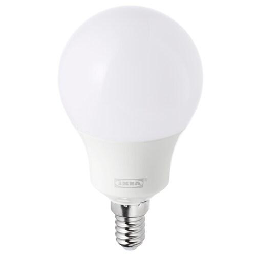 TRÅDFRI لمبة LED E14 400 lumen قابل للخفت لاسلكي/طيف أبيض أبيض أوبال 400 لومن 2700 كلفن