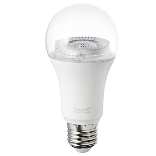 TRÅDFRI لمبة LED E27 950 lumen قابل للخفت لاسلكي/طيف أبيض شفاف 950 لومن 2700 كلفن 60 مم 12 واط