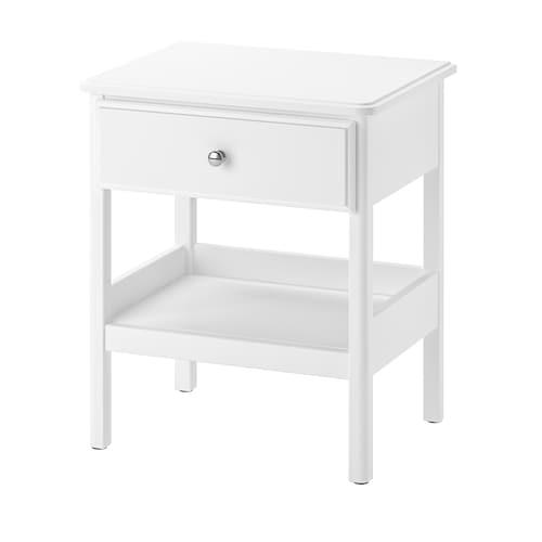 TYSSEDAL طاولة سرير جانبية أبيض 51 سم 40 سم 59 سم 37 سم 33 سم