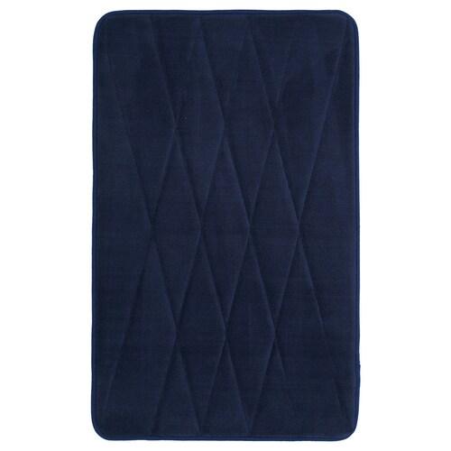 UPPVAN دعّاسة للحمّام أزرق غامق 80 سم 50 سم 0.40 م² 1450 g/m²