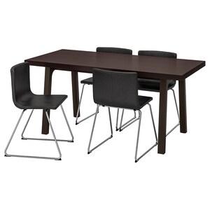 الكرسي: Bernhard طلاء كروم/mjuk بني غامق.