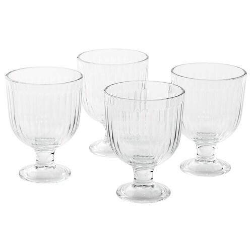 VARDAGEN كأس زجاج شفاف 12 سم 28 سل 4 قطعة