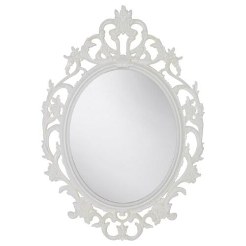 VIKERSUND مرآة شكل بيضاوي/أبيض 59 سم 85 سم