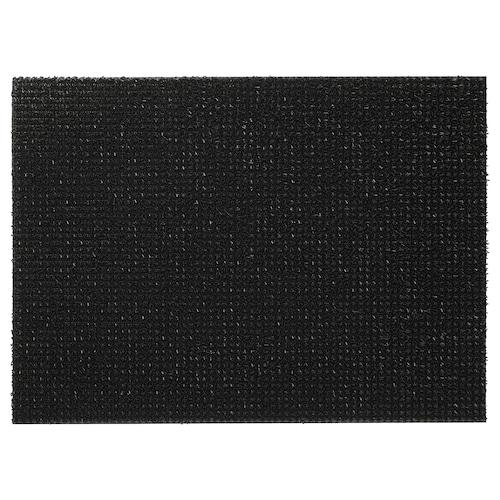 YDBY سجادة باب داخلي/خارجي أسود 79 سم 58 سم 0.46 م² 3080 g/m² 14 مم