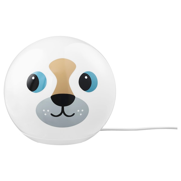 ÄNGARNA LED table lamp, dog pattern