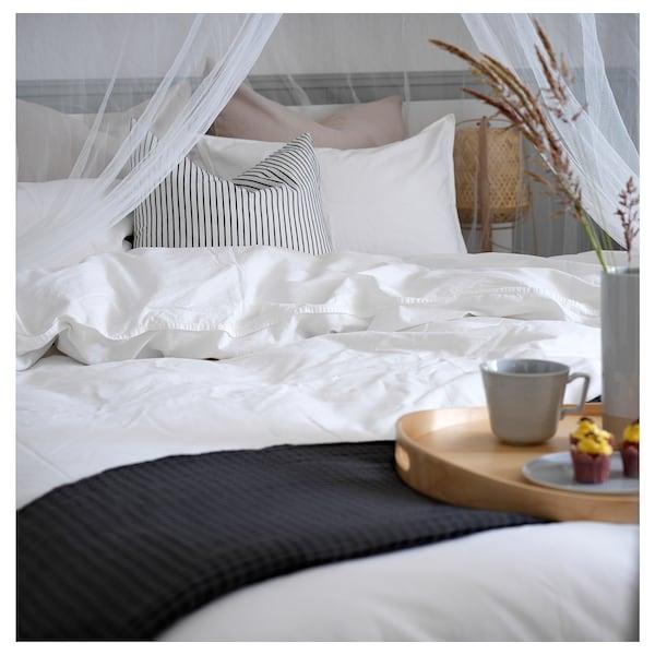 ÄNGSLILJA غطاء لحاف و غطاء مخدة, أبيض, 150x200/50x80 سم