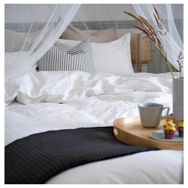 ÄNGSLILJA quilt cover and 2 pillowcases white 125 /inch² 2 pack 220 cm 240 cm 50 cm 80 cm