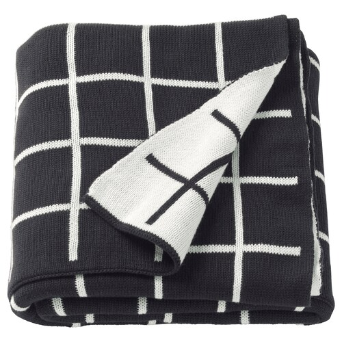 ALMALIE throw black/white 170 cm 130 cm