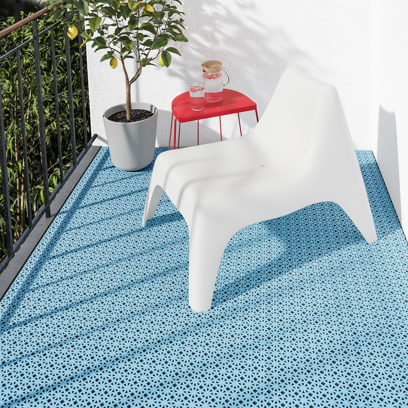 ALTAPPEN Floor decking, outdoor - light blue - IKEA